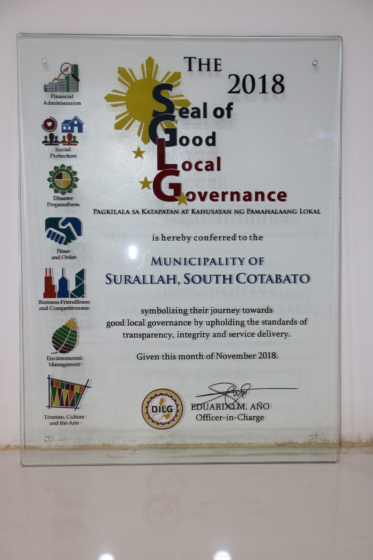 seal of good governance surallah 2018